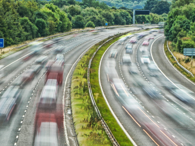 A busy motorway showing volumes of traffic that could increase along the M5