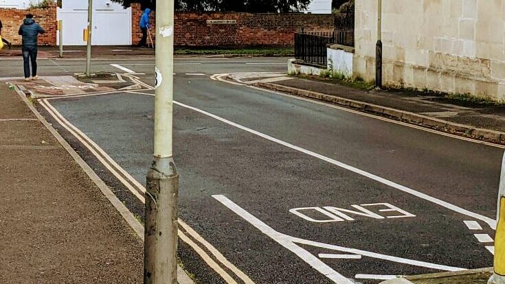 A cycling contraflow in Cheltenham that provides a safe, family friendly, continuous route to cycle to the town centre via Montpellier.